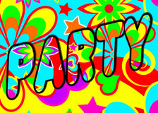Psychedelic party header Royalty Free Stock Photography