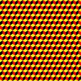 Psychedelic pattern black-red-yellow Royalty Free Stock Photos