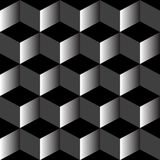 Psychedelic pattern mixed black Stock Photo