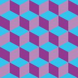 Psychedelic pattern mixed purple and blue Stock Photography