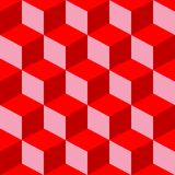 Psychedelic pattern mixed red Royalty Free Stock Image