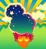 Psychedelic poster template Royalty Free Stock Images