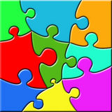 Psychedelic Puzzle Stock Photography