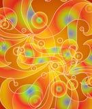 psychedelic röda retro swirls Royaltyfri Bild