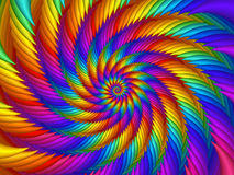 Psychedelic Rainbow Spiral Background Stock Images