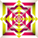 Psychedelic retro background. Stock Photography