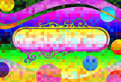 Psychedelic Retro Background and Banner Stock Photos