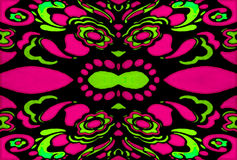 Psychedelic Retro Ornament Royalty Free Stock Images