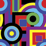 Psychedelic Retro Pattern Royalty Free Stock Photography
