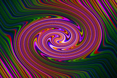 Psychedelic retro swirl background. Purple, green etc. Stock Photos