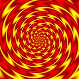Psychedelic round spiral background fiery red and yellow colored. Psychedelic round spiral pattern background fiery red and yellow colored Stock Image