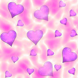 Psychedelic Seamless Hearts Tile royalty free illustration