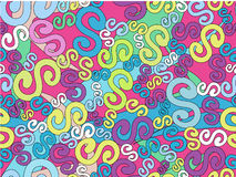 Psychedelic  seamless vector texture Royalty Free Stock Images