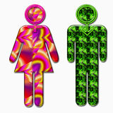 Psychedelic sex symbol Royalty Free Stock Photo