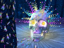 Psychedelic Skull and Insects Stock Image