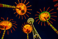 Psychedelic Space Needle Royalty Free Stock Photography
