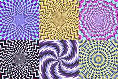 Free Psychedelic Spiral. Optical Illusion, Delusion Spirals And Colorful Abstraction Hypnosis Spiral Vector Illustration Set Royalty Free Stock Photos - 148009108