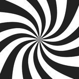 Psychedelic spiral with radial gray rays. Swirl twisted retro background. Comic effect  illustration Stock Photo