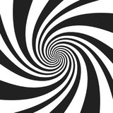 Psychedelic spiral with radial gray rays. Swirl twisted retro background. Comic effect vector illustration.  royalty free illustration