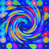 Psychedelic spiral Royalty Free Stock Photo