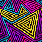Psychedelic spiral seamless pattern Stock Images