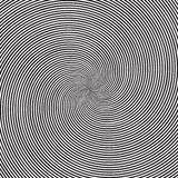 Psychedelic square background with circular black and white swirl, helix or twist. Backdrop with round optical illusion Stock Photo