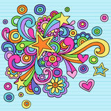 Psychedelic Stars Notebook Doodle Vector royalty free illustration