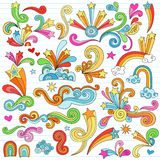 Psychedelic Stars Notebook Doodles Vector Elements Royalty Free Stock Photos