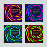 Psychedelic striped card Stock Images