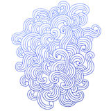 Psychedelic Swirling Waves Notebook Doodles Vector Royalty Free Stock Images
