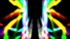 Psychedelic symmetric pattern. Bright colors tunnel stock footage