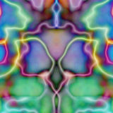 Psychedelic Symmetric Tile Wal Stock Photo