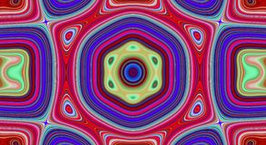 Psychedelic symmetry abstract pattern and hypnotic background,  bright zine culture. Psychedelic symmetry abstract pattern and hypnotic background texture stock illustration