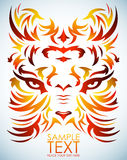 Psychedelic tiger vector - tattoo - eyes. Isolated, easy edit Royalty Free Stock Photography