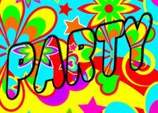 psychedelic titelraddeltagare royaltyfri illustrationer