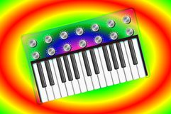Psychedelic Transparent Synthesizer 2 Stock Image