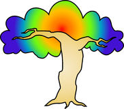 Psychedelic tree Stock Images