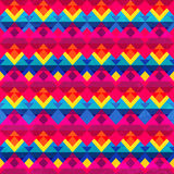 Psychedelic triangle seamless pattern Stock Images