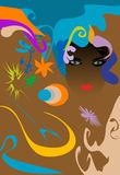 psychedelic tribute Royaltyfria Bilder