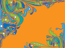 Psychedelic Vector Background Royalty Free Stock Photos