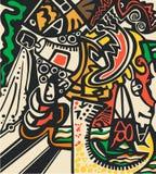 psychedelic vektor för abstrakt bakgrundsillustration Royaltyfri Bild