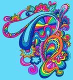 psychedelic vektor för abstrakt illustration Royaltyfri Bild