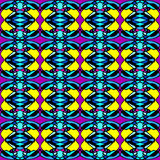 Psychedelic vintage seamless pattern Stock Image