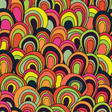 Psychedelic waves seamless pattern Stock Photo