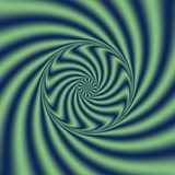 Psychedelic Wind Spiral.  Digital abstract image with a psychedelic spiral Royalty Free Stock Image