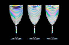 Psychedelic wine glasses Royalty Free Stock Photo