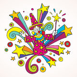 Psychedelic wizard Royalty Free Stock Images