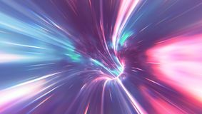 Psychedelic Wormhole. Abstact and psychedelic background of a wormhole Stock Photo