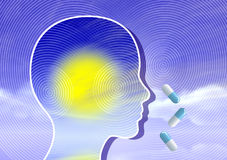 Psychedelics expand the mind Stock Photo