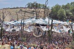 Psychedelisch de muziekfestival van Ozora, Hongarije Stock Foto